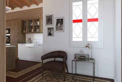 Spacious renovated apartment in Barcelona in Eixample area